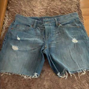 Super cute jean shorts be Ann Taylor Loft.